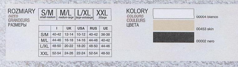Control body tabela rozmiarów